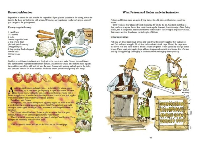 Spread from Findus, Food and Fun - pages 42-43