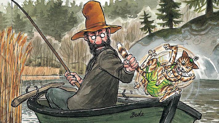 Findus goes fishing