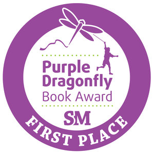 Purple Dragonfly Book Award First Place badge