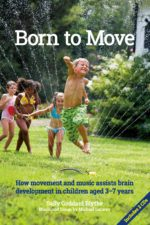 Born to Move cover shows a child leaping through a water sprinkler