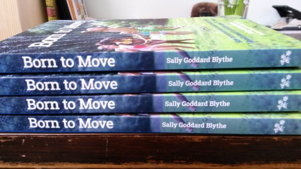 Born to move book spines