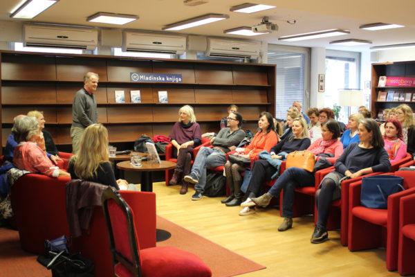 Slovenian book launch Healing Stories